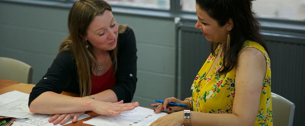 Jenny assessing a learner